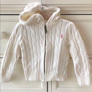 Ralph Lauren 2/2T cableknit sweater